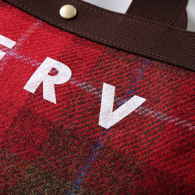 EVA × HarrisTweed MINI TOTE BAG (タータンチェック(レッド))