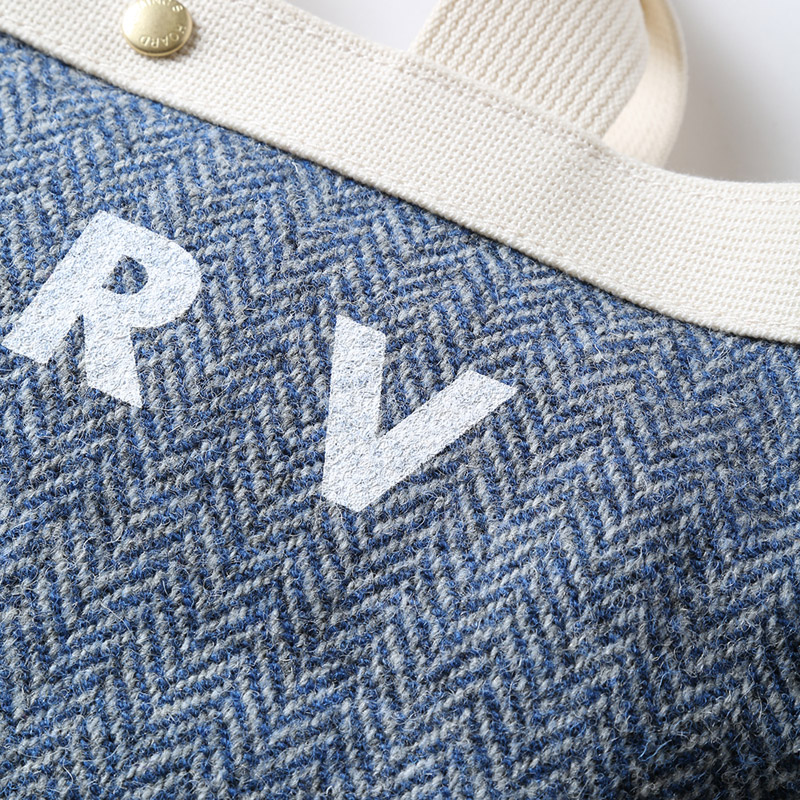 EVA × HarrisTweed MINI TOTE BAG (ブルー)
