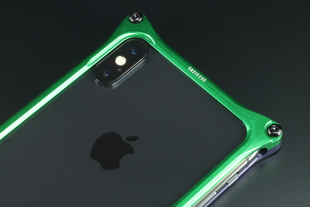 Solid Bumper for iPhoneX (EVANGELION Limited) (Purple×Green(初号機))