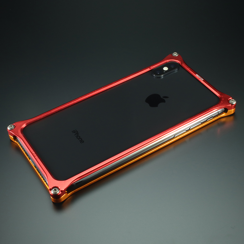 Solid Bumper for iPhoneX (EVANGELION Limited) (Yellow×Red(2号機))