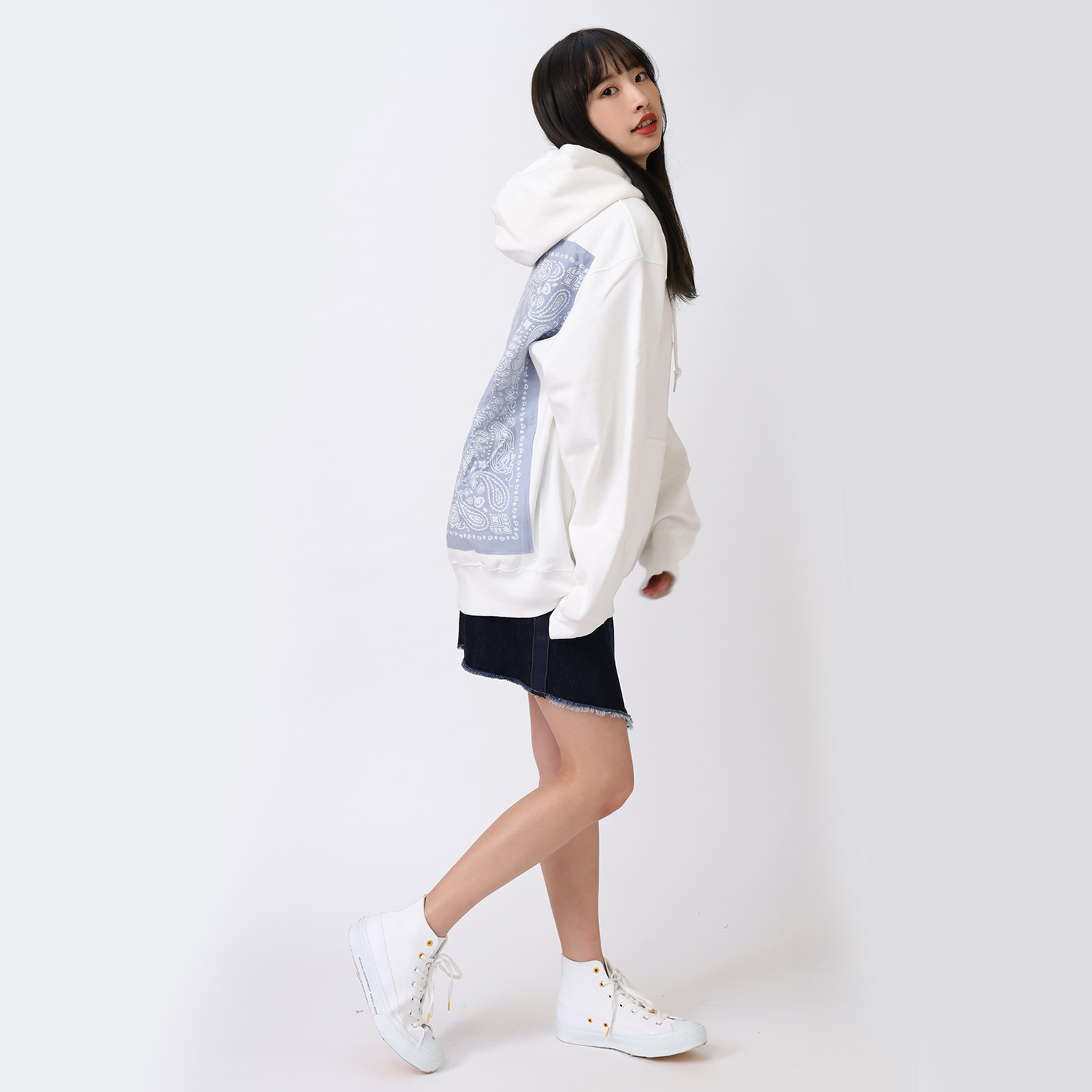 EVA-01 BANDANNA PARKA (WHITE×BLUE(WILLE))