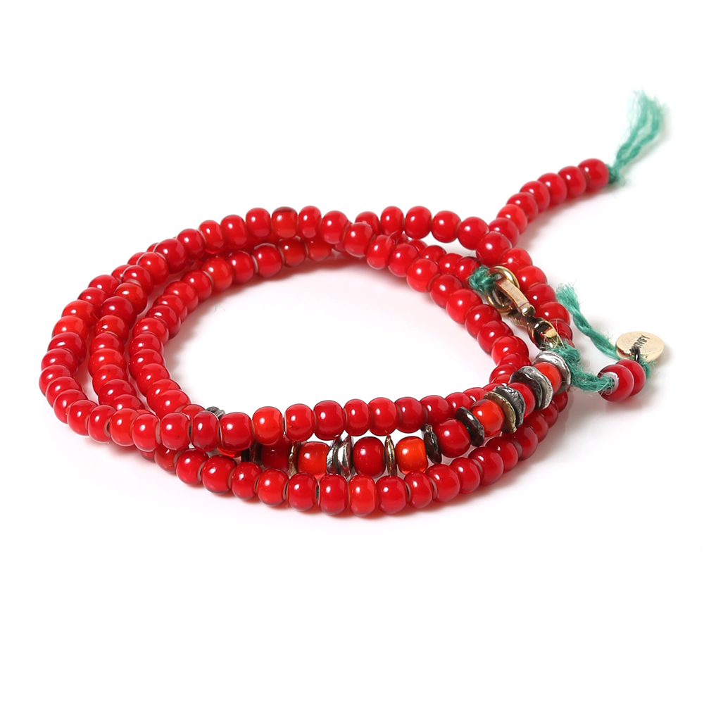 EVANGELION Hemp Code & Beads Bracelet/Necklace (VIVIFY) (レッド(アスカ))