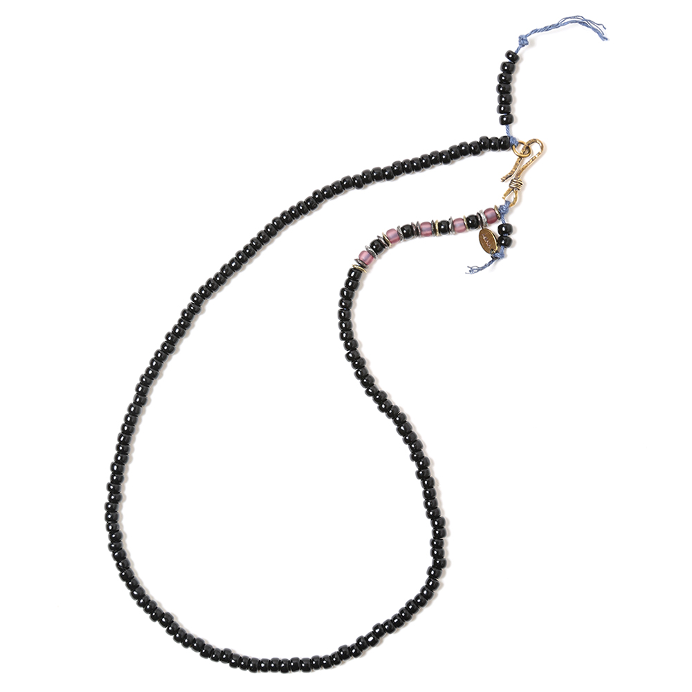 EVANGELION Hemp Code & Beads Bracelet/Necklace (VIVIFY) (ブラック(カヲル))