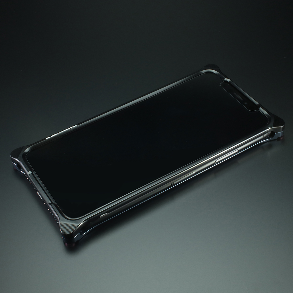 Solid Bumper for iPhone11pro (EVANGELION Limited) (Black×Navy(渚カヲル))