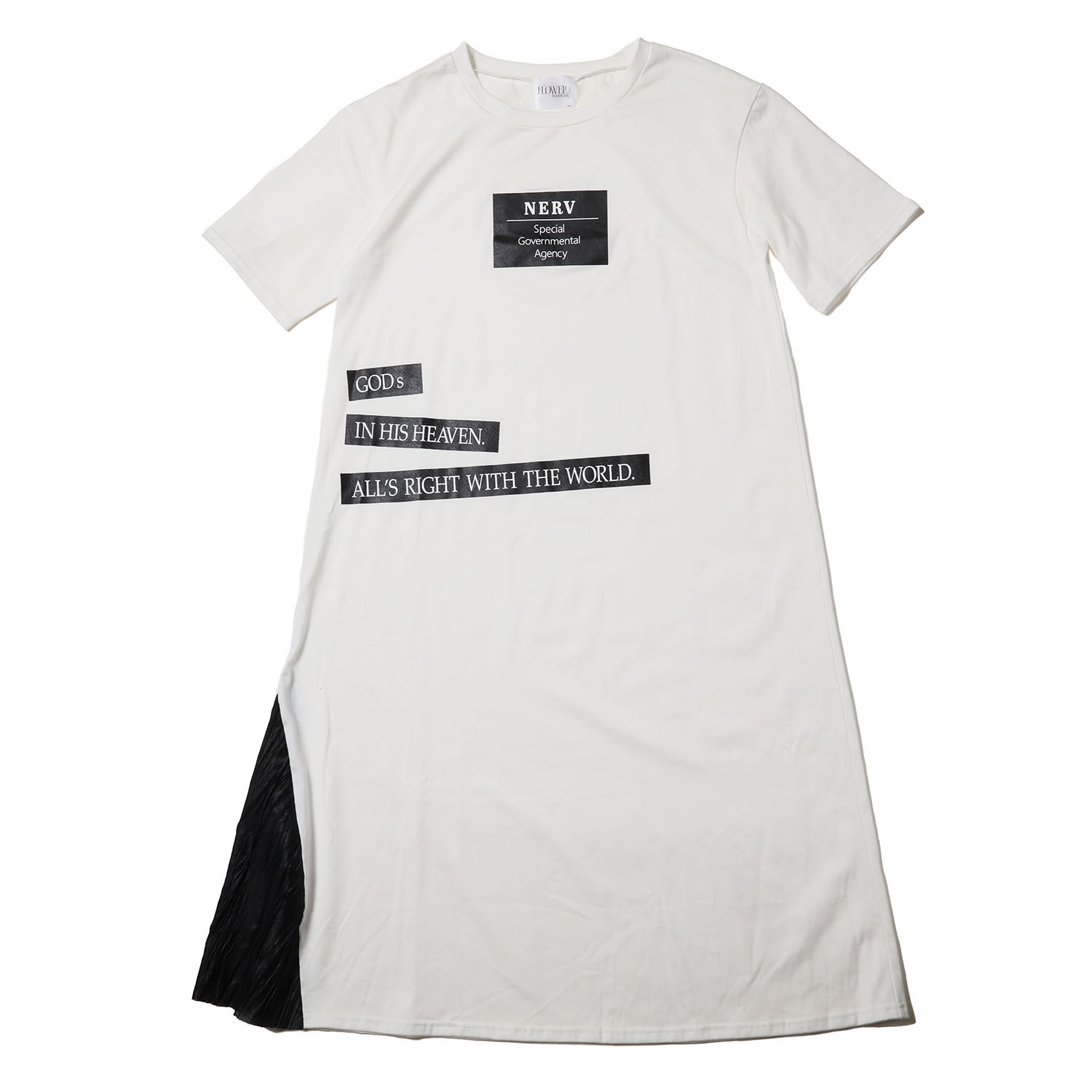 NERV Box and Lettering Dress (WHITE)