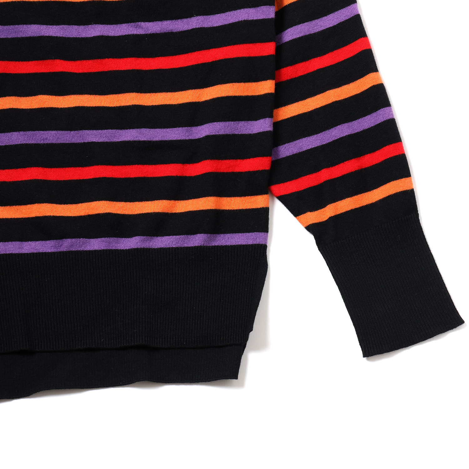 EVANGELION BORDER KNIT (RED×YELLOW×PURPLE)