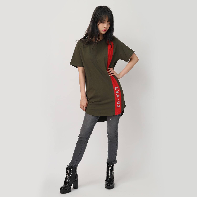 EVANGELION RAGLAN SLEEVE LINE T-Shirt (GREEN(EVA-02))