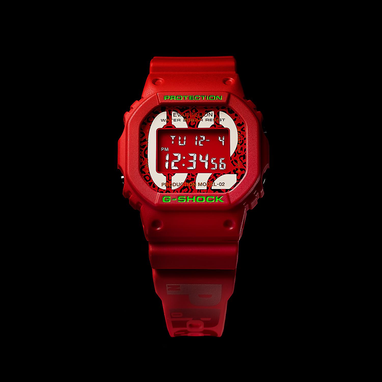 EVANGELION STORE オリジナル腕時計 G-SHOCK DW-5600 EVA-02 THE BEAST MODEL feat.RADIO EVA