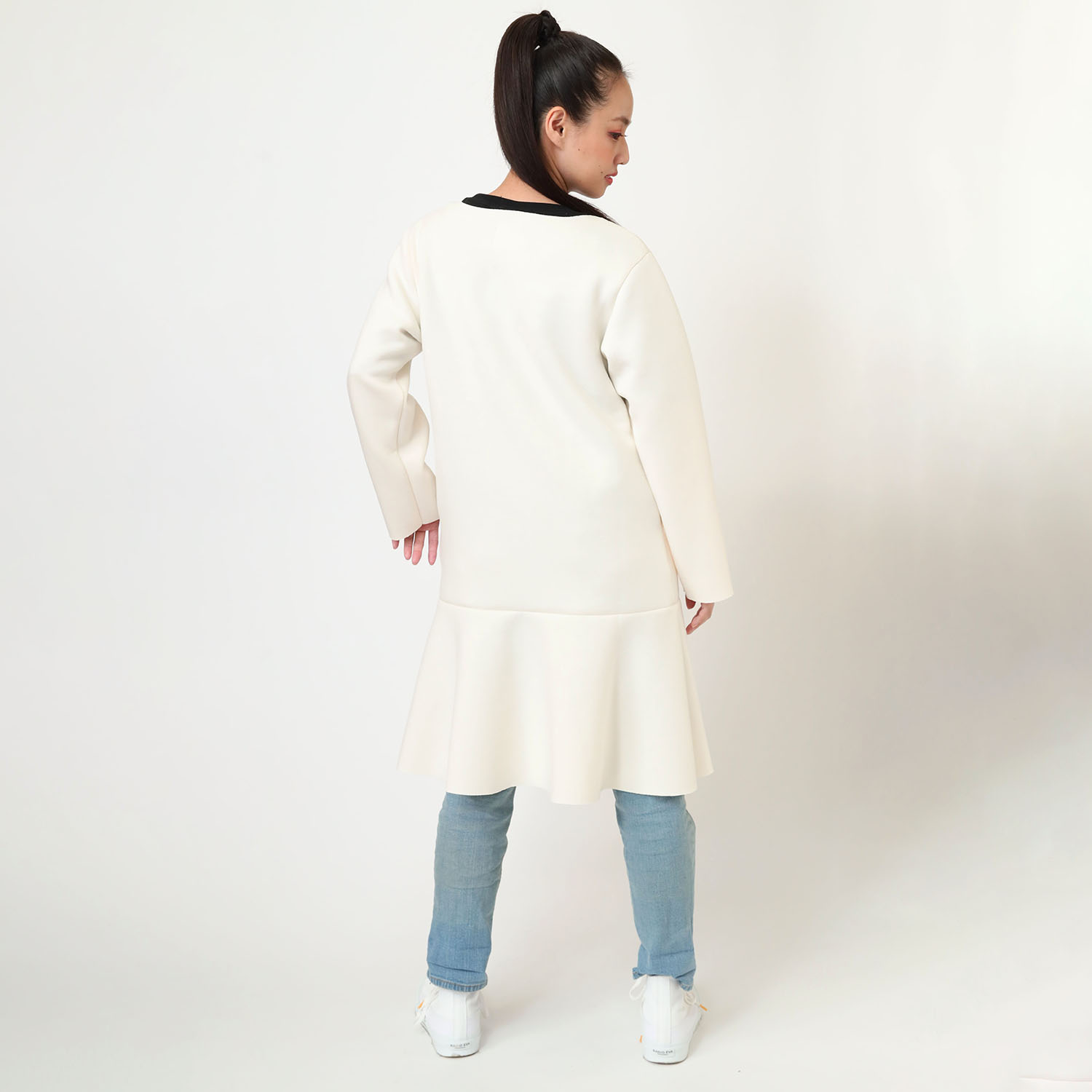 CAN(NOT) No Collar Coat (アイボリー)