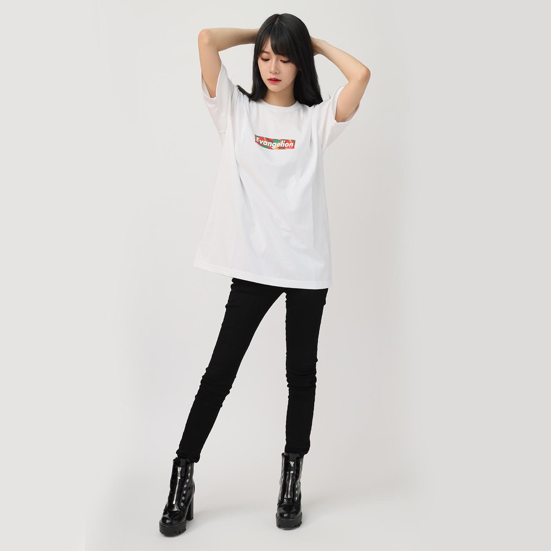 EVANGELION BOX LOGO T-Shirt (EVA-02(WHITE))