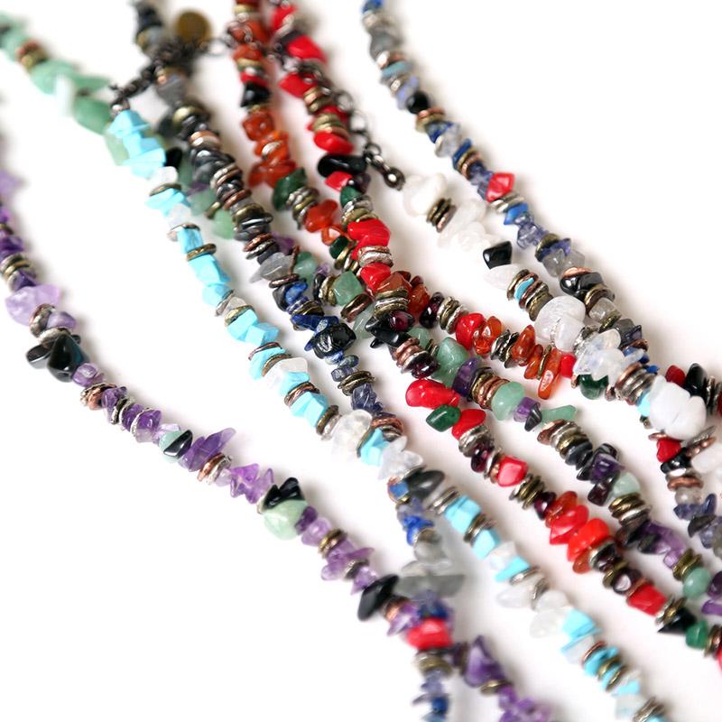 Pebble & Metal Chip's Beads Cord (VIVIFY) (パープル(初号機))