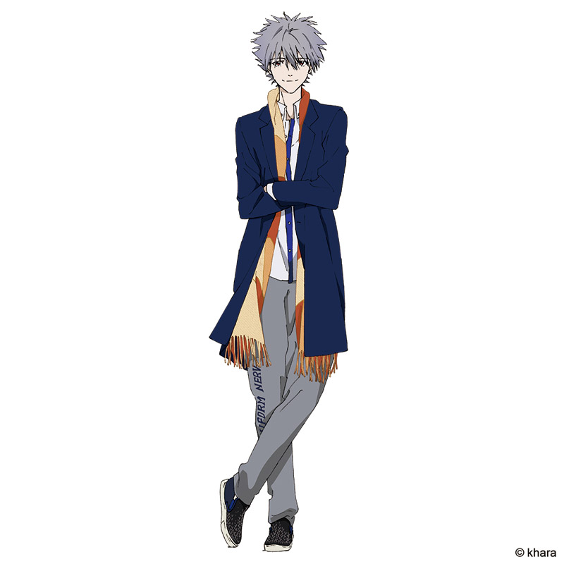 Kaworu Rolling-down lapel Shop Coat (ネイビー×レッドチェック)