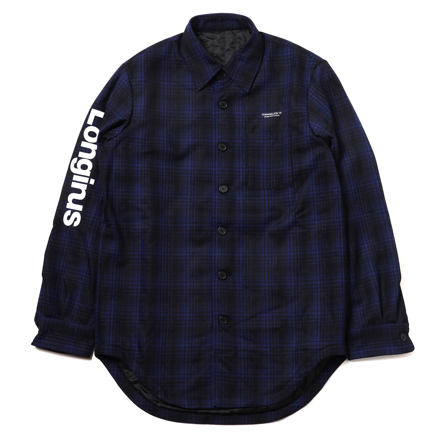 EVANGELION XIII QUILTING FLANNEL CHECK SHIRTS JKT (BLUE CHECK)