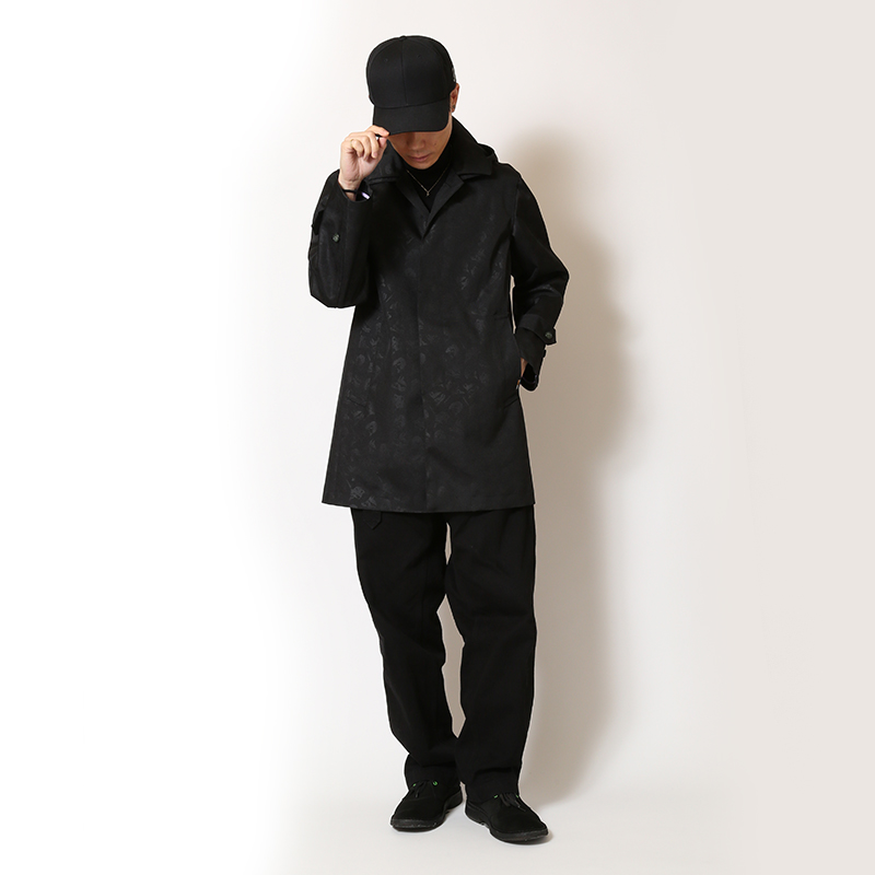 EVANGELION CORDURA Stand Fall Collar Coat (ブラック(初号機))