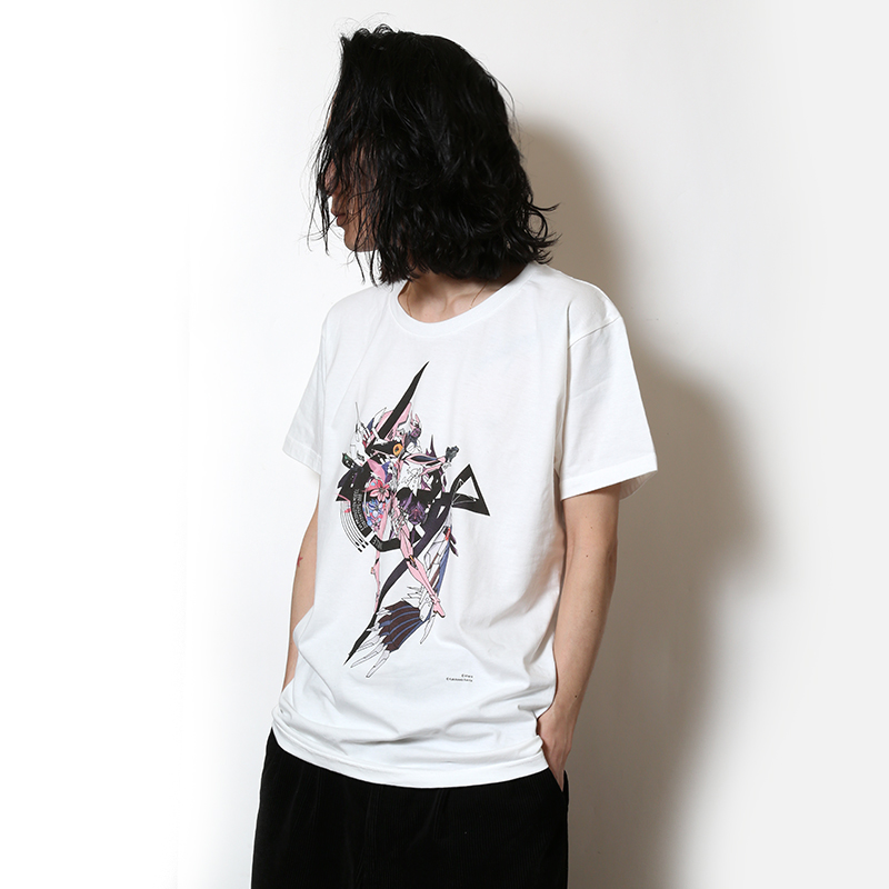 Abstract EVANGELION T-Shirt(KENTA KAKIKAWA) 8号機(ホワイト)