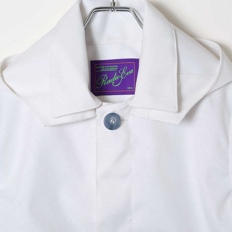 EVANGELION CORDURA Stand Fall Collar Coat (ホワイト(レイ))
