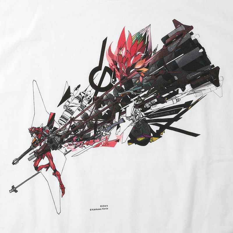 Abstract EVANGELION T-Shirt(KENTA KAKIKAWA) 改2号機β(ホワイト)