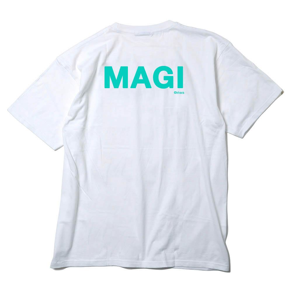 MAGI SYSTEM BIG T-Shirt (CASPER(ホワイト×ブルー))