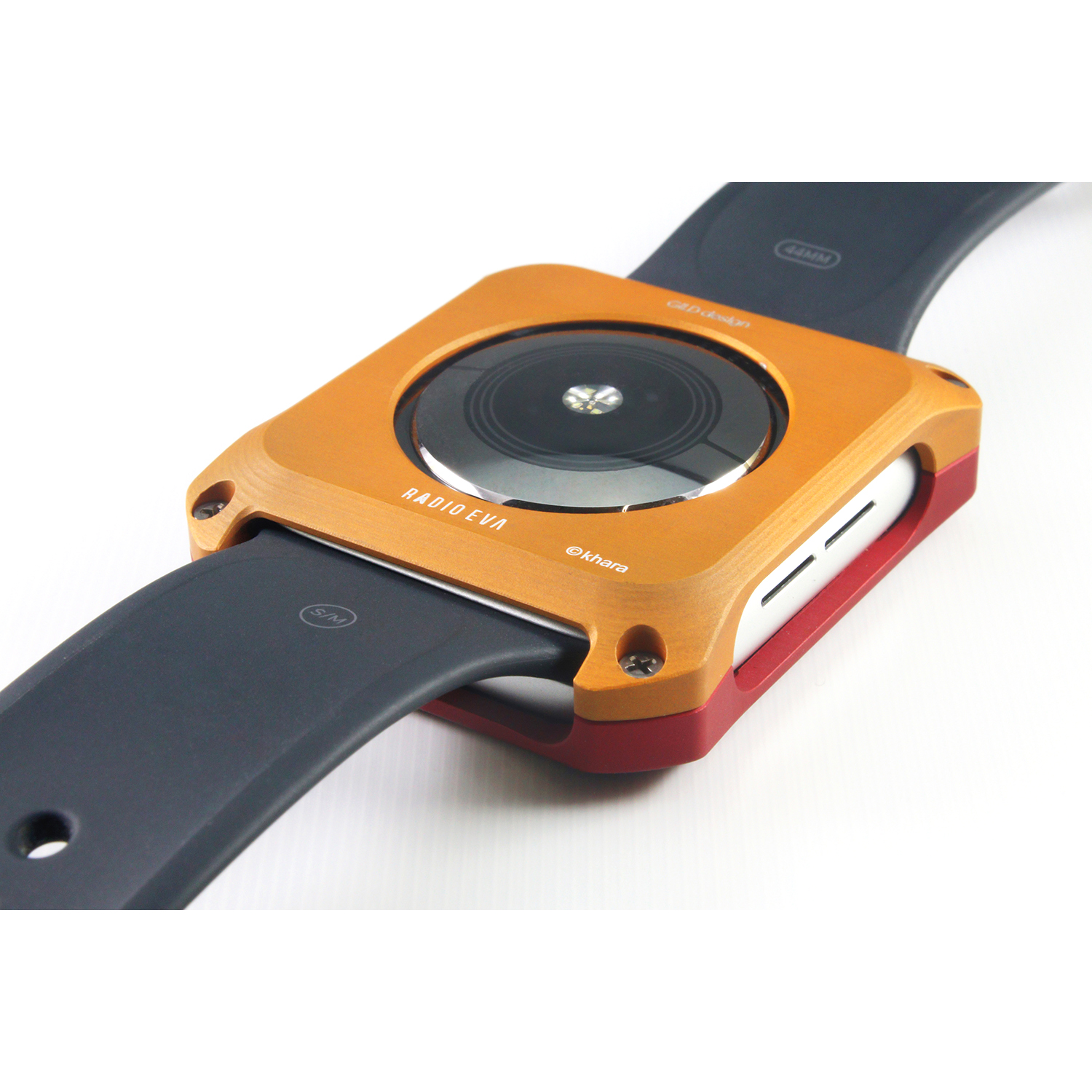 Solid bumper for Apple Watch (EVANGELION Limited) (Black×Navy(渚カヲル))
