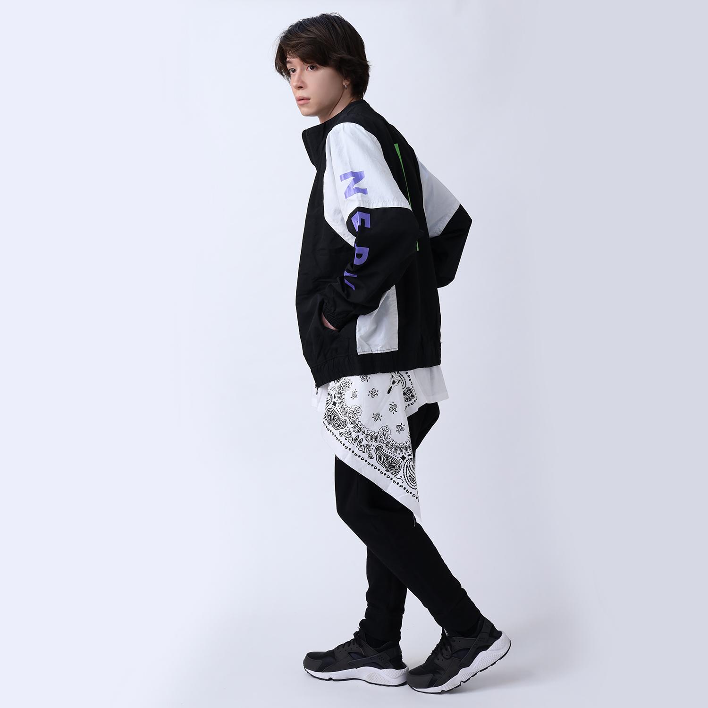 EVA-01 PAISLEYS BANDANNA BIG T-Shirt (WHITE)