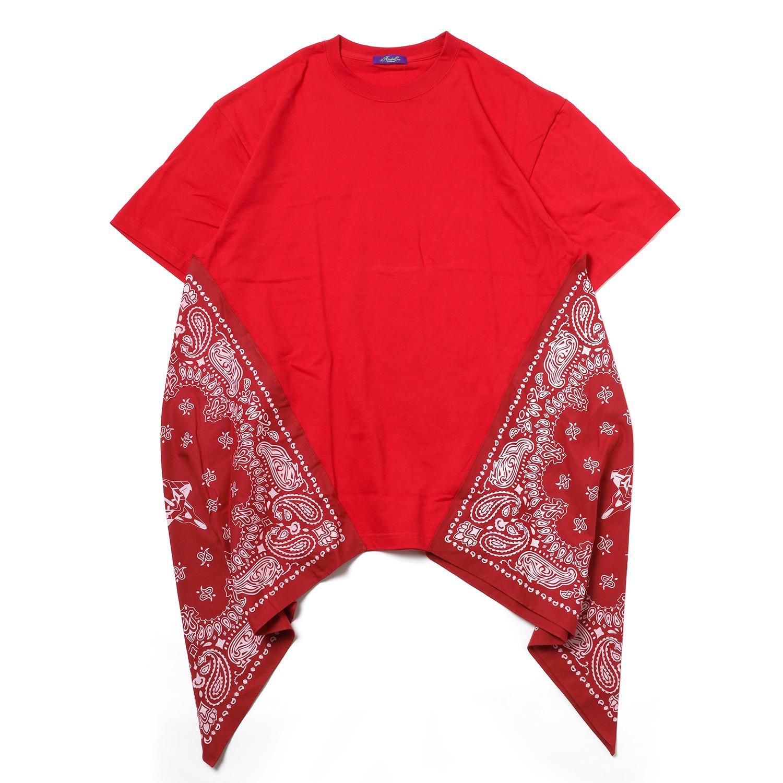 EVA-01 PAISLEYS BANDANNA BIG T-Shirt (RED)