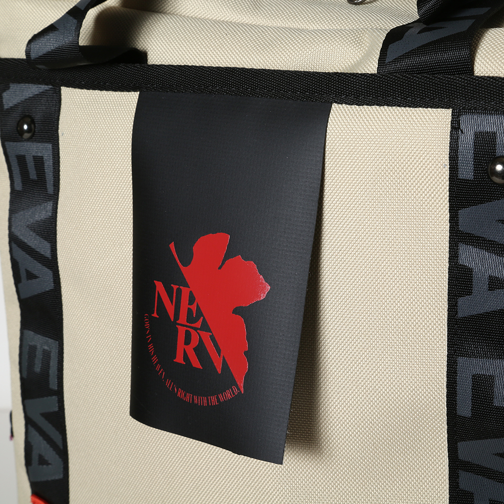 EVANGELION RUCK SACK with SYMBOL TAG by FIRE FIRST (NERV MODEL(BEIGE))