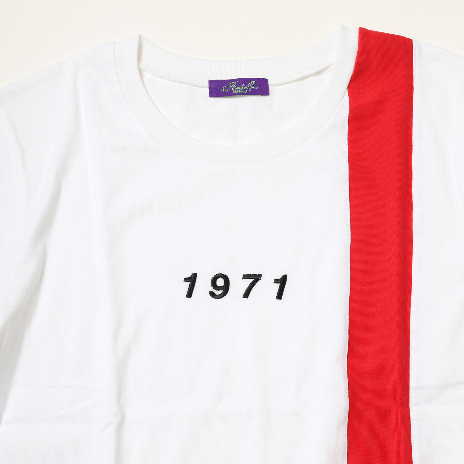 NERV CAR T-Shirt (WHITE×RED)