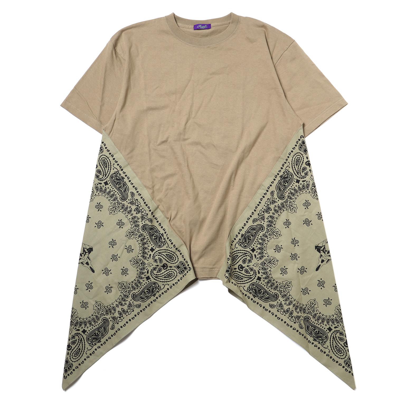EVA-01 PAISLEYS BANDANNA BIG T-Shirt (SAND KHAKI)