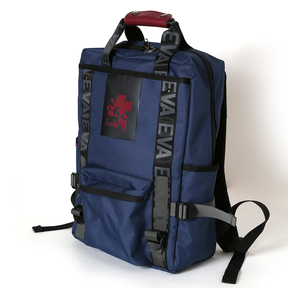 EVANGELION RUCK SACK with SYMBOL TAG by FIRE FIRST (NEO NERV MODEL(NAVY))