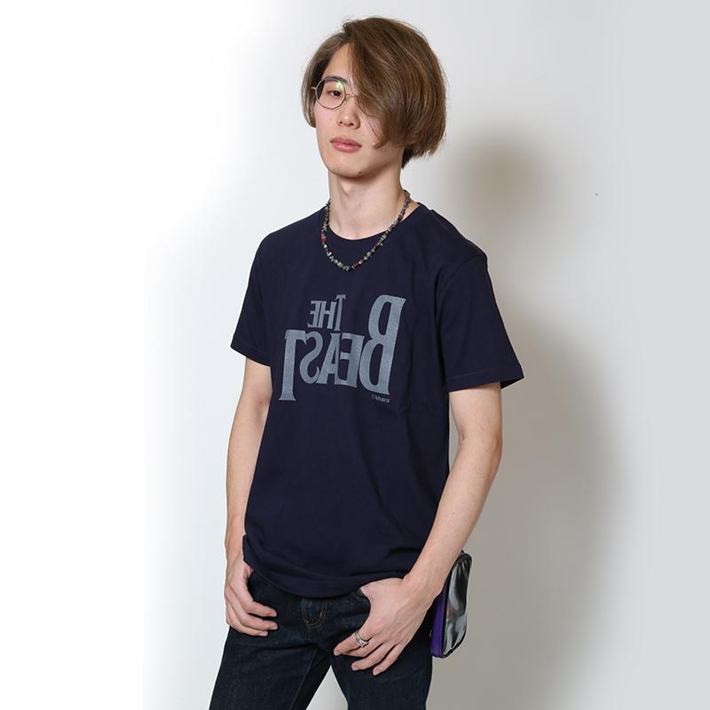 THE BEAST T-Shirt (ネイビー×グレー)