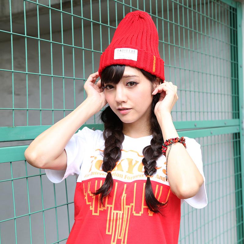 EVA Rib Knit Cap (レッド)