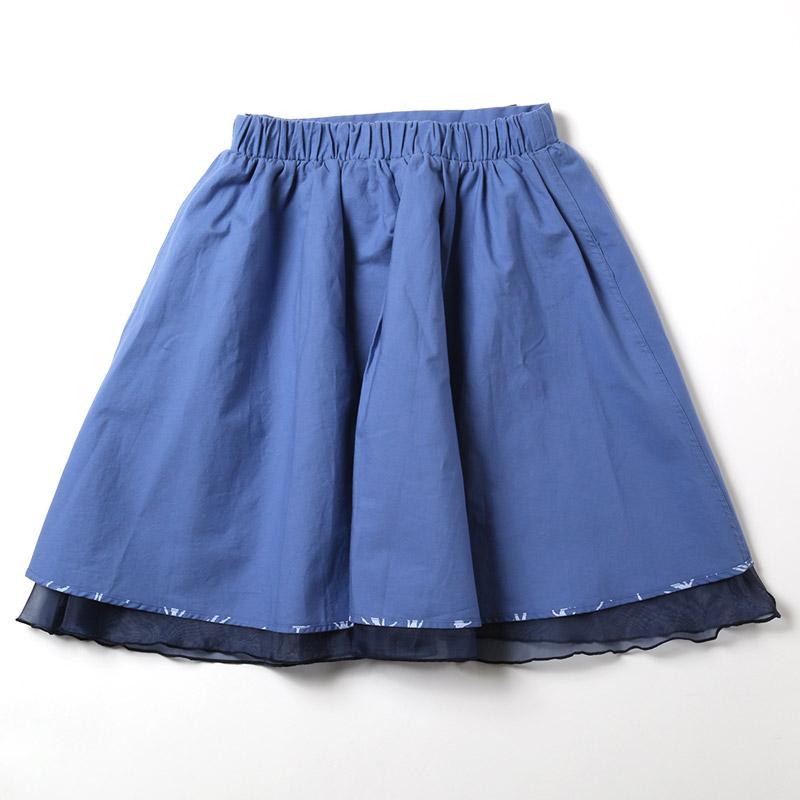 モノグラムリバーシブルスカート (第13号機モデル(ネイビー&ブルー))