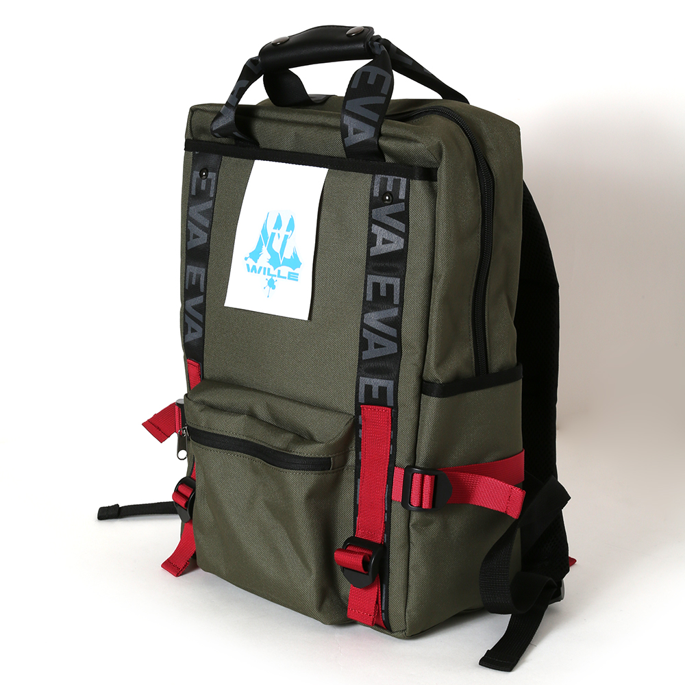EVANGELION RUCK SACK with SYMBOL TAG by FIRE FIRST (WILLE MODEL(OLIVE))