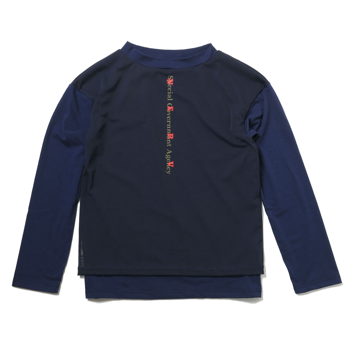 NERV Layered Long T-Shirt (NAVY)