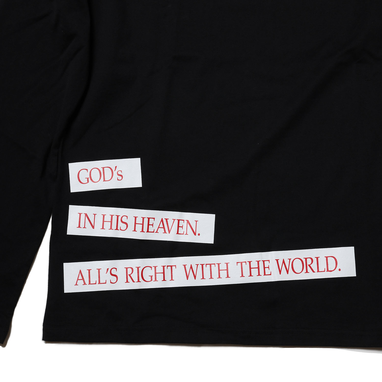 NERV Box and Lettering Long T-Shirt (BLACK)