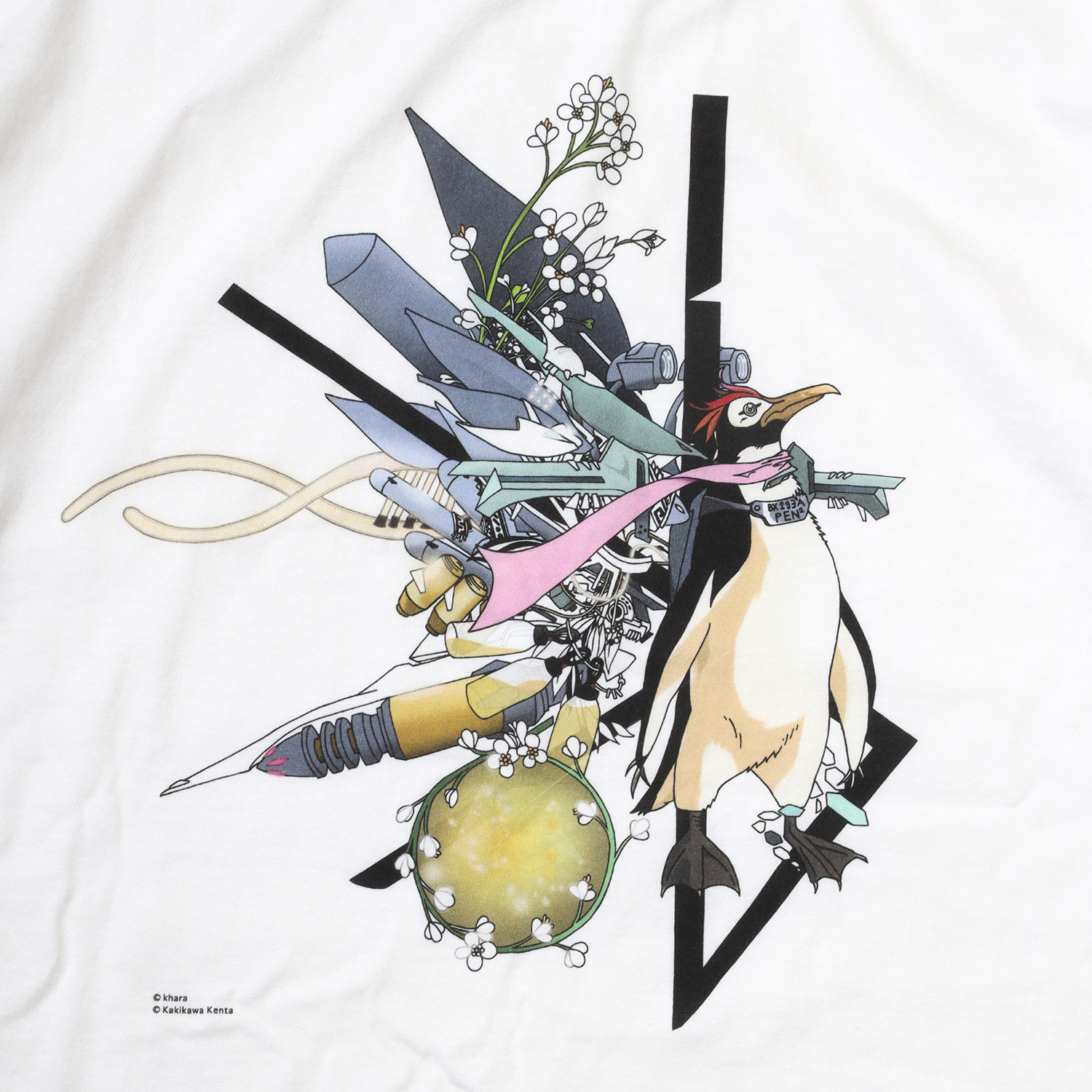 Abstract EVANGELION T-Shirt β(KENTA KAKIKAWA)(WHITE(ペンペン))