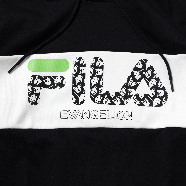 FILA MONOGRAM LOGO PARKA EVANGELION LIMITED (BLACK)