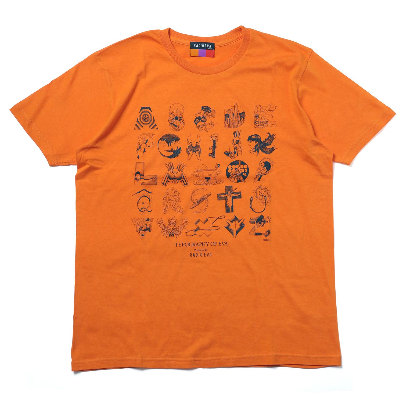 TYPOGRAPHY OF EVA index T-Shirt (ORANGE)
