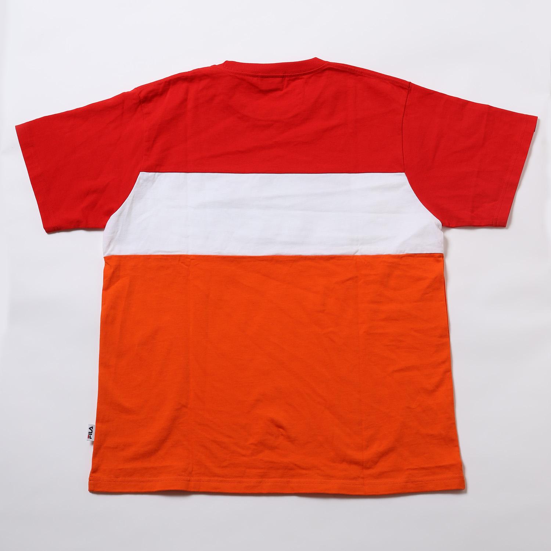 FILA SWITCHING LOGO T-Shirt EVANGELION LIMITED (RED×ORANGE)
