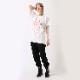 GEOMETRIC ASUKA T-Shirt (WHITE×RED)
