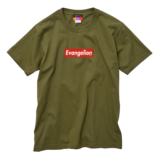 EVANGELION BOX LOGO T-Shirt (オリーブ)