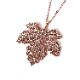 NERV Fig Leaf Necklace by Ayler (PINK GOLD)