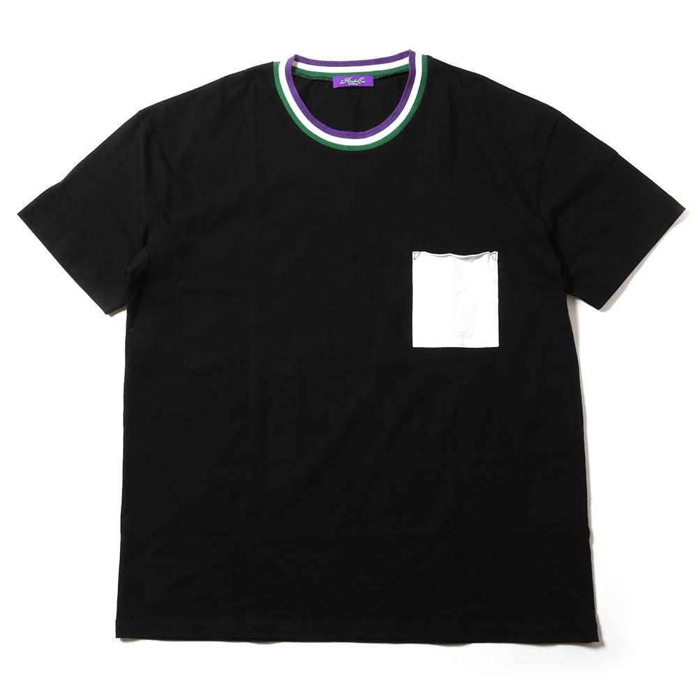 EVANGELION Ringer Pocket T-Shirt (ブラック)
