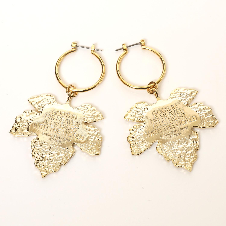 NERV Fig Leaf Earrings by Ayler (GOLD) 2個セット