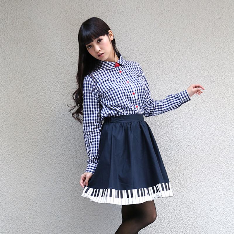 ギンガムチェックシャツ  (渚カヲルモデル)