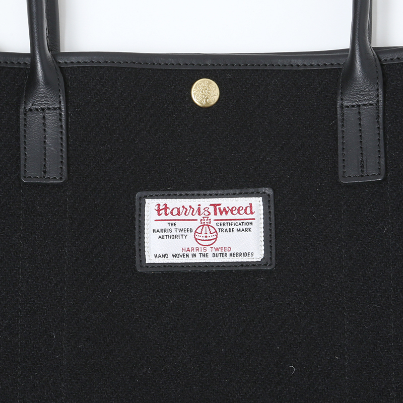 EVA × Harris Tweed Tote Bag (ブラック)