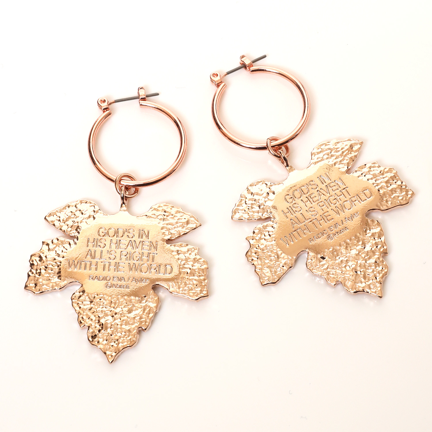NERV Fig Leaf Earrings by Ayler (PINK GOLD) 2個セット