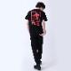 FILA ORGANIZATION LOGO T-Shirt EVANGELION LIMITED (BLACK(NERV))
