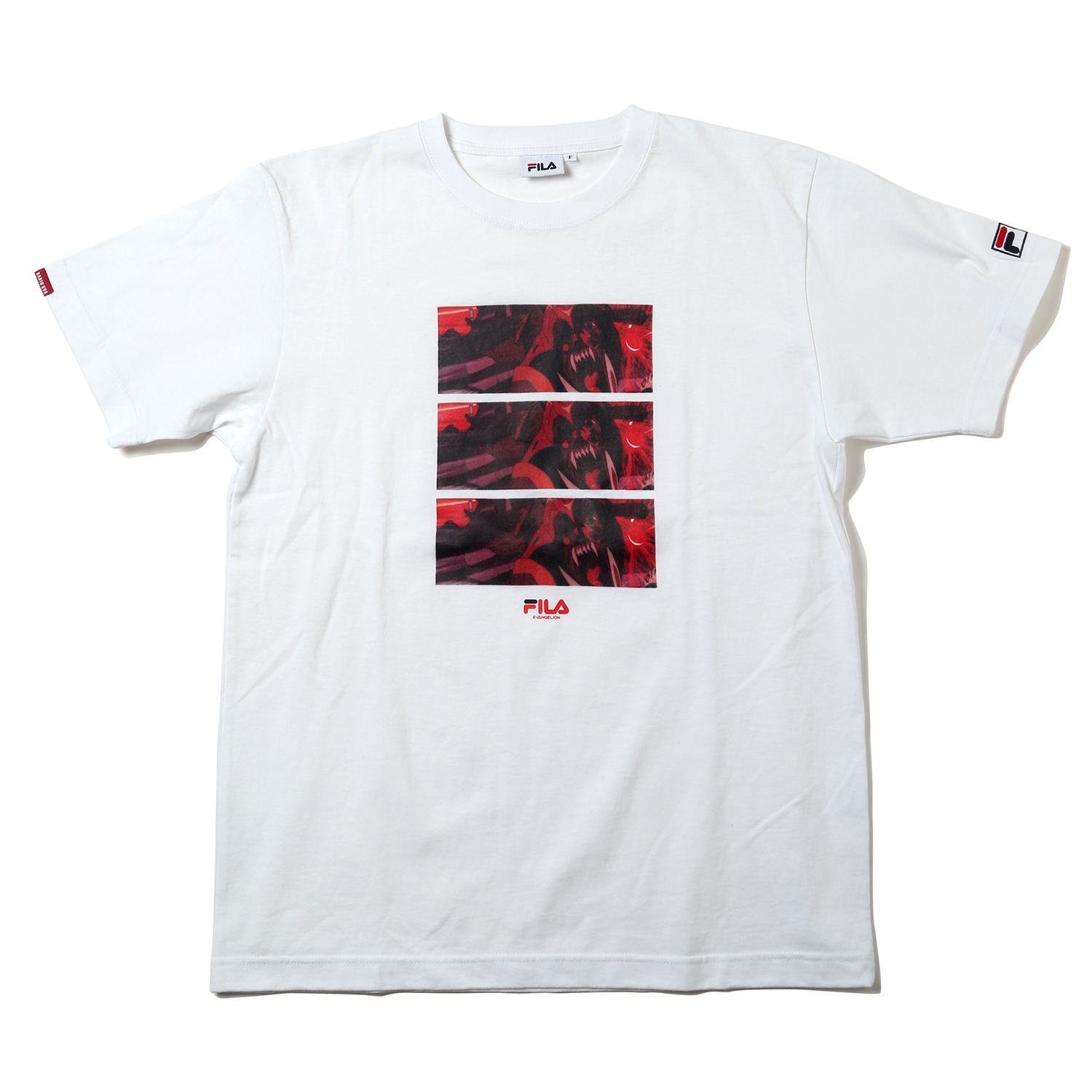 EVANGELION GRAPHIC T-Shirt by FILA (WHITE (エヴァンゲリオン 2号機 獣化第4形態(第2種))