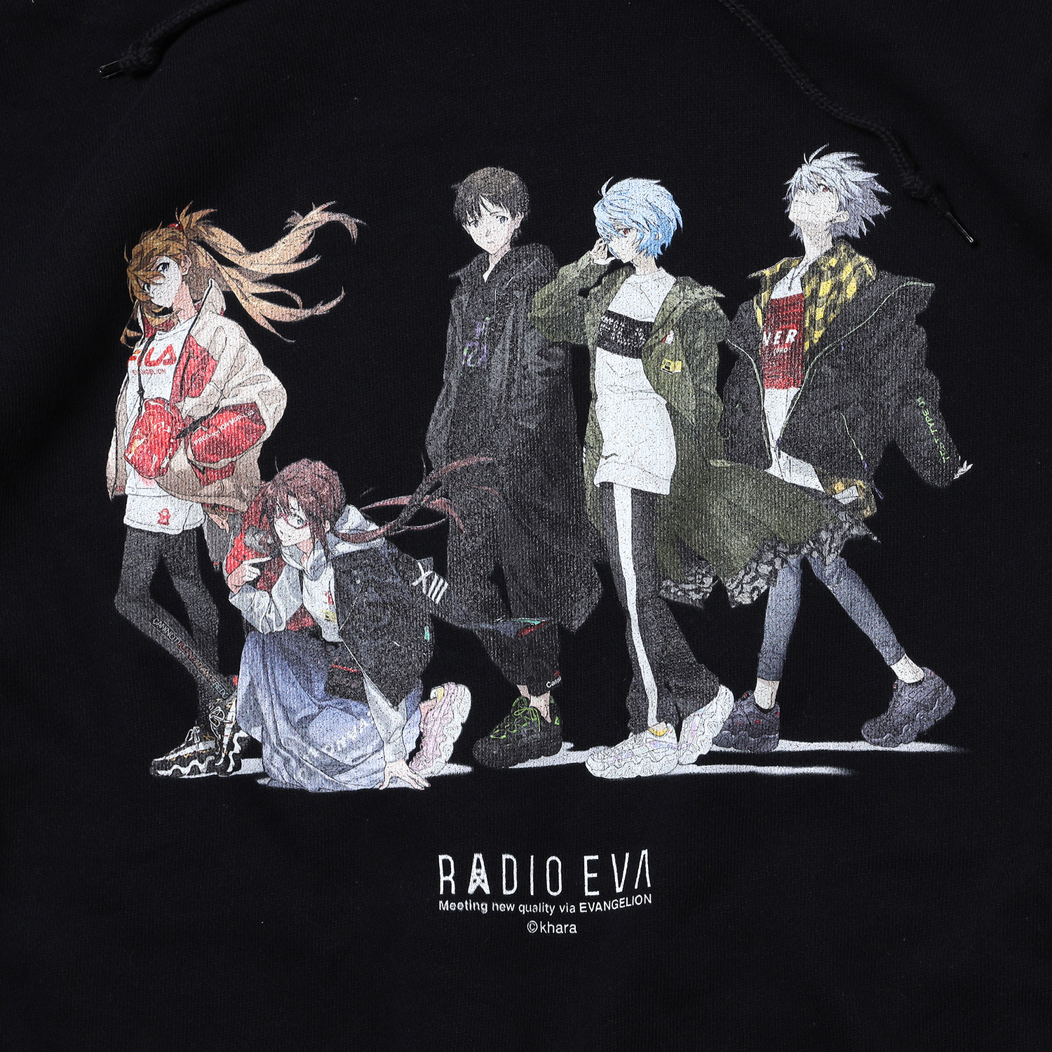 RADIO EVA Illustration Parka (Mai Yoneyama) (BLACK)